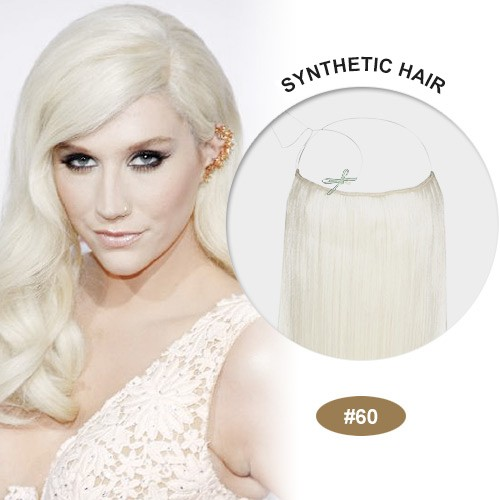 "COCO Synthetic Secret Hair 16"" White Blonde(#60)"