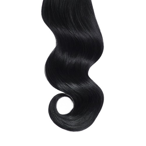 """18"""" Jet Black(#1) 7pcs Clip In Remy Human Hair Extensions"""
