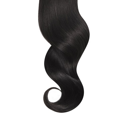 "14"" Natural Black(#1b) 7pcs Clip In Human Hair Extensions"