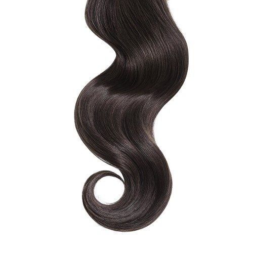 """18"""" Dark Brown(#2) 7pcs Clip In Synthetic Hair Extensions"""