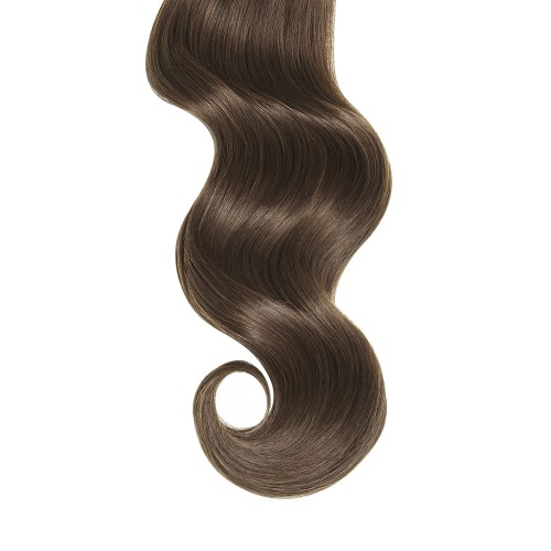 """16"""" Ash Brown(#8) 7pcs Clip In Remy Human Hair Extensions"""