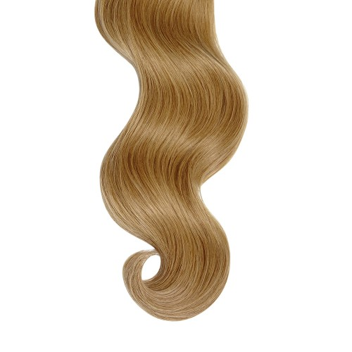 """18"""" Golden Brown(#12) 7pcs Clip In Human Hair Extensions"""