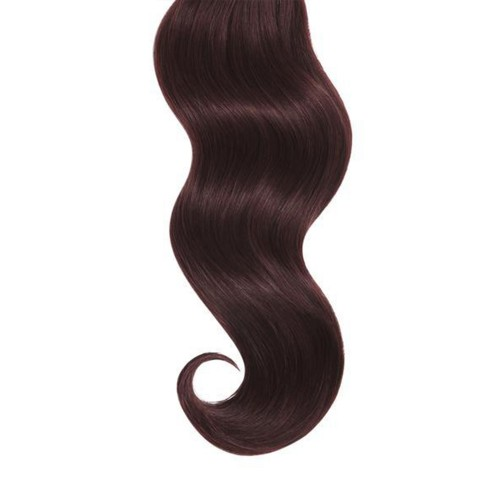"16"" Dark Auburn(#33) 7pcs Clip In Human Hair Extensions"