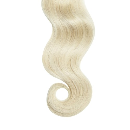 "16"" White Blonde(#60) 7pcs Clip In Human Hair Extensions"