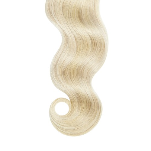 """18"""" White Blonde(#60) 7pcs Clip In Human Hair Extensions"""