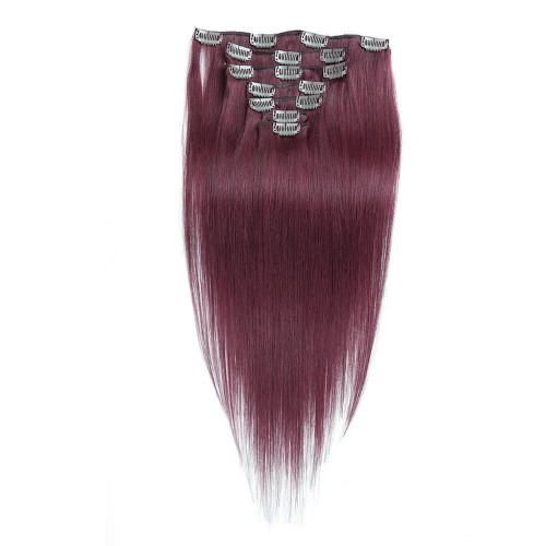 """26"""" Bug 7pcs Clip In Human Hair Extensions"""