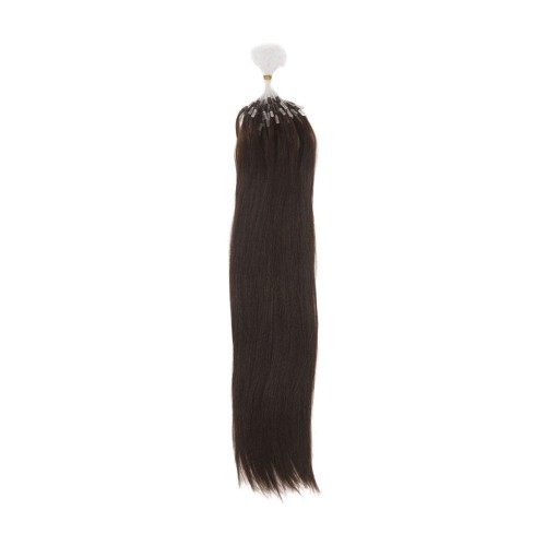 "16"" Natural Black(#1b) 100S Micro Loop Remy Human Hair Extensions"