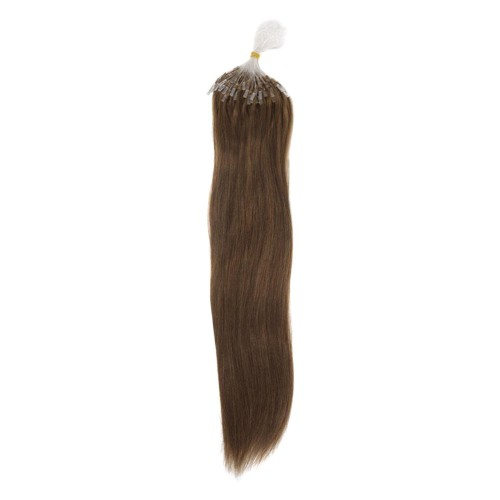 "24"" Ash Brown(#8) 100S Micro Loop Remy Human Hair Extensions"