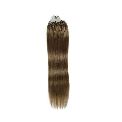 "16"" Ash Brown(#8) 100S Micro Loop Remy Human Hair Extensions"