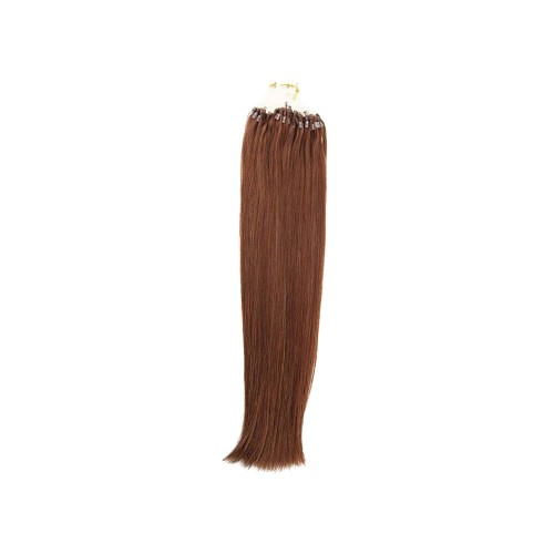 "24"" Dark Auburn(#33) 100S Micro Loop Remy Human Hair Extensions"