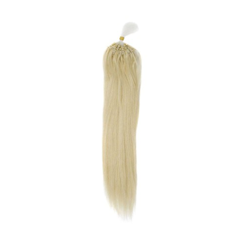 "20"" Bleach Blonde(#613) 100S Curly Micro Loop Remy Human Hair Extensions"