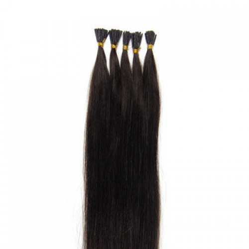 """22"""" Dark Brown(#2) 100S Stick Tip Remy Human Hair Extensions"""