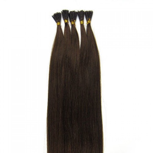 "24"" Medium Brown(#4) 100S Stick Tip Remy Human Hair Extensions"
