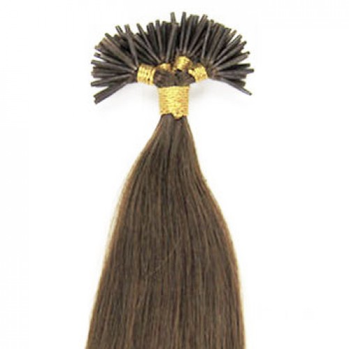 "26"" Light Brown(#6) 100S Stick Tip Human Hair Extensions"