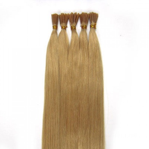 "16"" Ash Blonde(#24) 100S Stick Tip Human Hair Extensions"