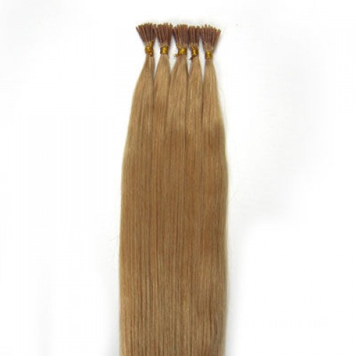 "24"" Strawberry Blonde(#27) 100S Stick Tip Human Hair Extensions"