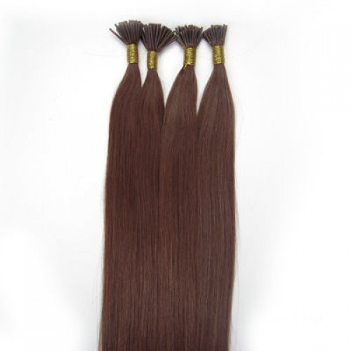 "26"" Jet Black(#1) 100S Nail Tip Remy Human Hair Extensions"
