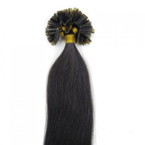 "24"" Natural Black(#1b) 100S Nail Tip Remy Human Hair Extensions"