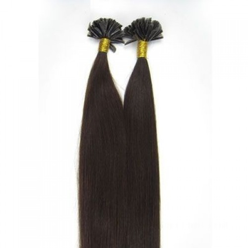 """16"""" Natural Black(#1b) 100S Stick Tip Remy Human Hair Extensions"""