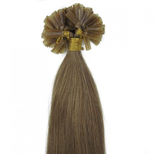 """16"""" Golden Brown(#12) 100S Nail Tip Remy Human Hair Extensions"""