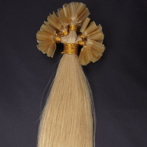"""24"""" Ash Blonde(#24) 100S Nail Tip Remy Human Hair Extensions"""