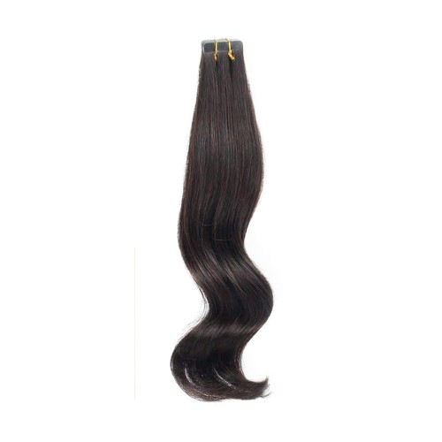 "20"" Dark Brown(#2) 20pcs Tape In Human Hair Extensions"
