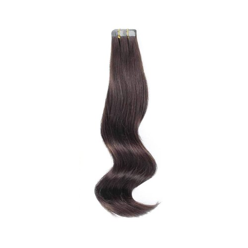 "16"" Dark Brown(#2) 20pcs Tape In Human Hair Extensions"