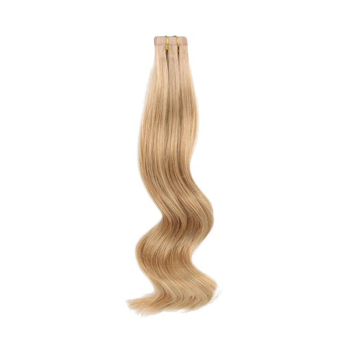 "16"" Strawberry Blonde(#27) 20pcs Tape In Human Hair Extensions"