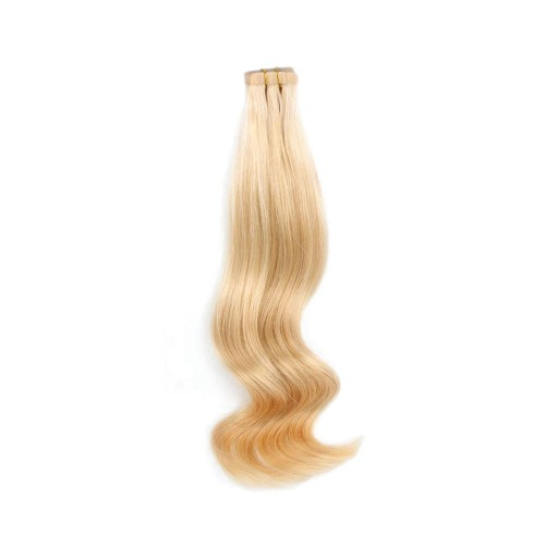 "20"" Golden Blonde(#16) 20pcs Tape In Human Hair Extensions"
