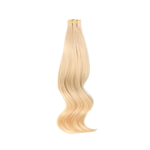 "22"" Ash Blonde(#24) 20pcs Tape In Remy Human Hair Extensions"