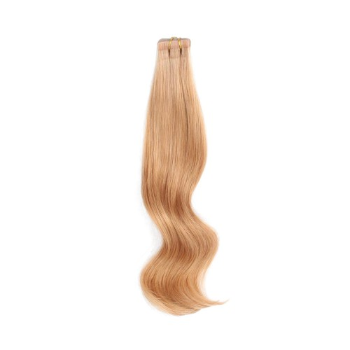 "24"" Strawberry Blonde(#27) 20pcs Tape In Human Hair Extensions"