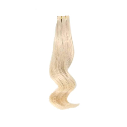 """18"""" White Blonde(#60) 20pcs Tape In Human Hair Extensions"""