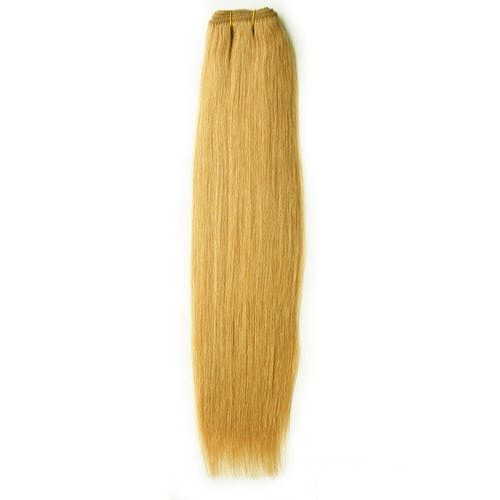 """12"""" Strawberry Blonde(#27) Light Yaki Indian Remy Hair Wefts"""