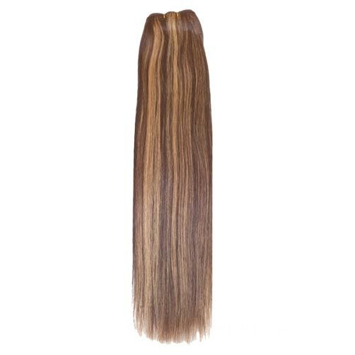"16"" Brown/Blonde(#4/27) Light Yaki Indian Remy Hair Wefts"