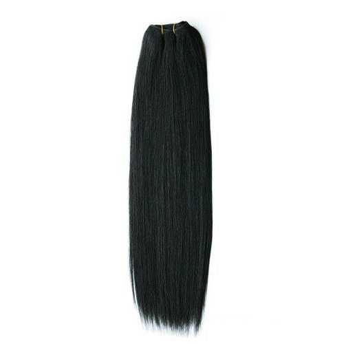 "18"" Jet Black(#1) Straight Indian Remy Hair Wefts"