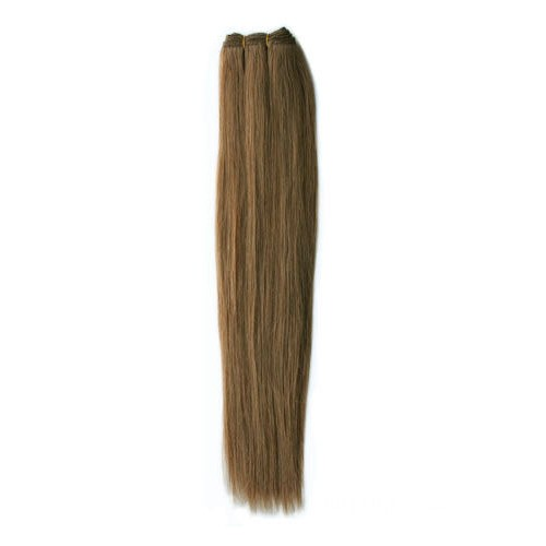 "16"" Ash Brown(#8) Straight Indian Remy Hair Wefts"