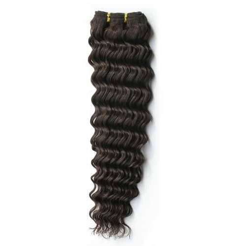"16"" Dark Brown(#2) Deep Wave Indian Remy Hair Wefts"
