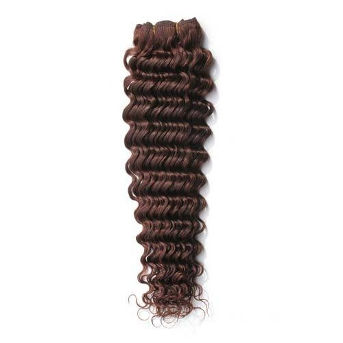 "14"" Medium Brown(#4) Deep Wave Indian Remy Hair Wefts"