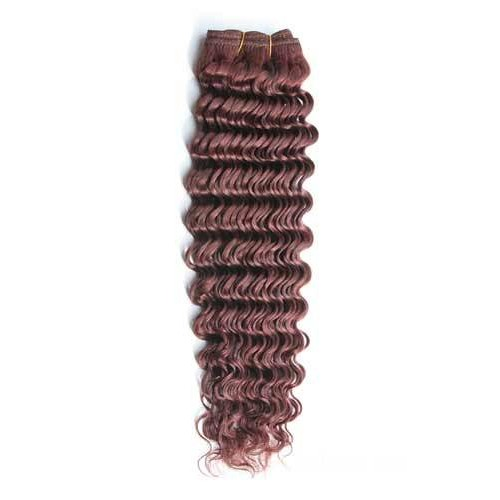 "16"" Dark Auburn(#33) Deep Wave Indian Remy Hair Wefts"