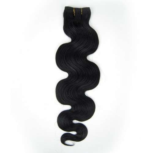 "14"" Jet Black(#1) Body Wave Indian Remy Hair Wefts"