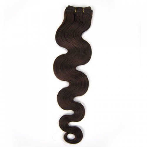 """12"""" Medium Brown(#4) Body Wave Indian Remy Hair Wefts"""