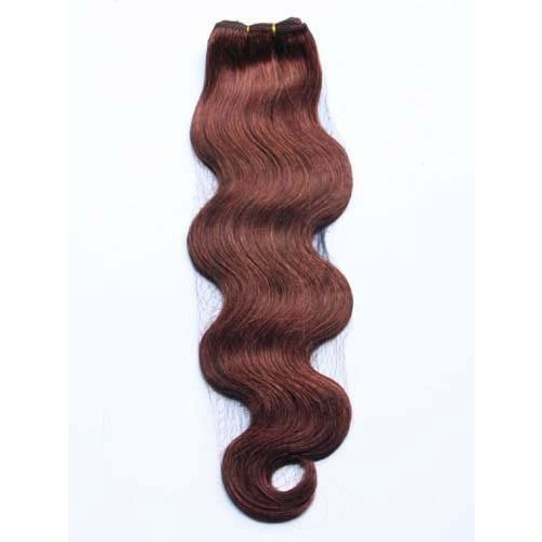 "10"" Dark Auburn(#33) Natural Wave Indian Remy Hair Wefts"