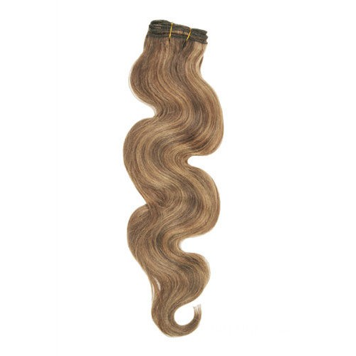 "18"" Brown/Blonde(#4/27) Body Wave Indian Remy Hair Wefts"