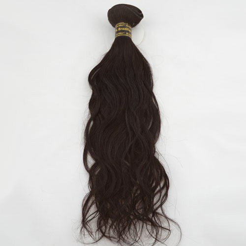 "10"" Medium Brown(#4) Natural Wave Indian Remy Hair Wefts"