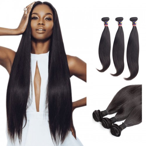 10 Inches*3 Body Wave Natural Black Virgin Brazilian Hair