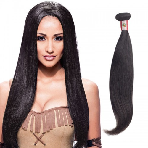 18 Inches Straight Natural Black Virgin Brazilian Hair