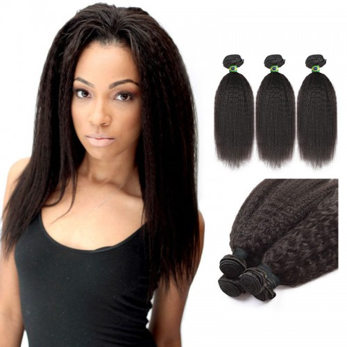 12 Inches Straight Natural Black Virgin Brazilian Hair