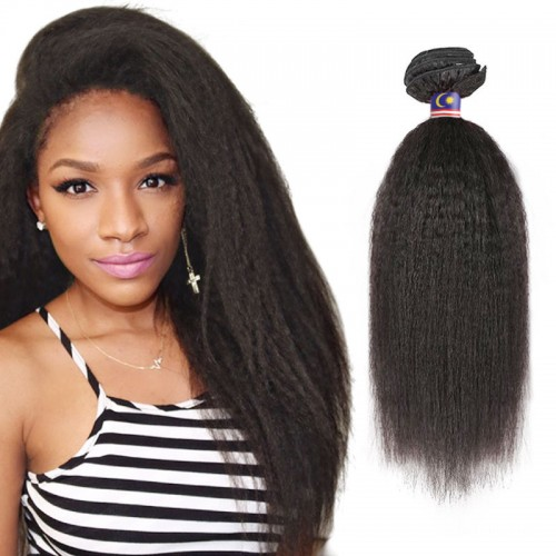 18 Inches Kinky Straight Natural Black Virgin Brazilian Hair