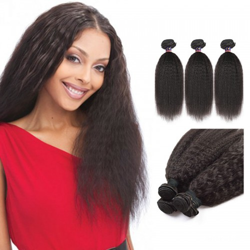 22/24/26 Inches Deep Curly Natural Black Virgin Brazilian Hair