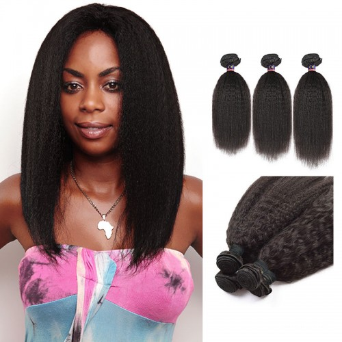 14 Inches*3 Straight Natural Black Virgin Malaysian Hair